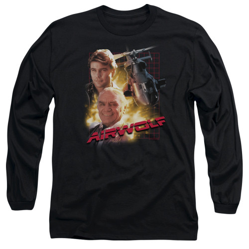 Image for Airwolf Long Sleeve T-Shirt - Poster