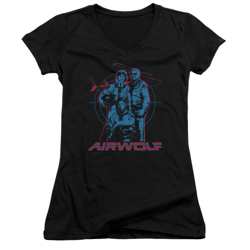 Image for Airwolf Girls V Neck T-Shirt - Graphic