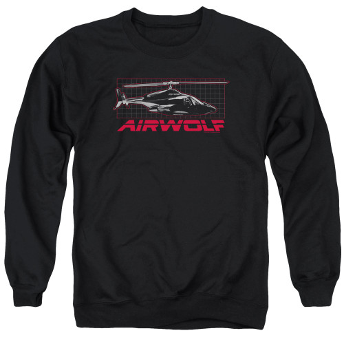 Image for Airwolf Crewneck - Grid