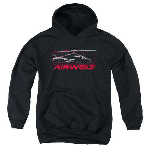 Image for Airwolf Youth Hoodie - Grid