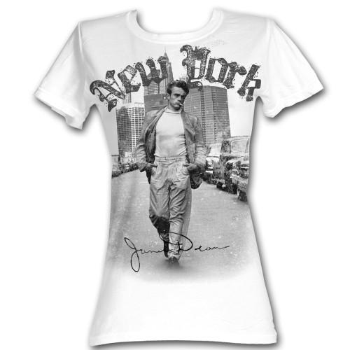 Image for James Dean Girls T-Shirt - New York Walking