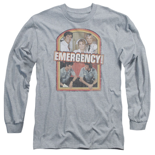 Image for Emergency Long Sleeve T-Shirt - Retro Cast