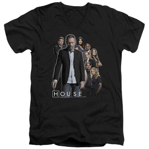 Image for House T-Shirt - V Neck - Crew