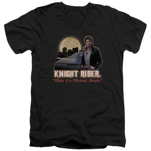 Image for Knight Rider T-Shirt - V Neck - Full Moon