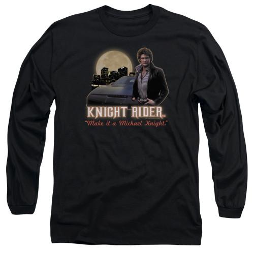 Image for Knight Rider Long Sleeve T-Shirt - Full Moon