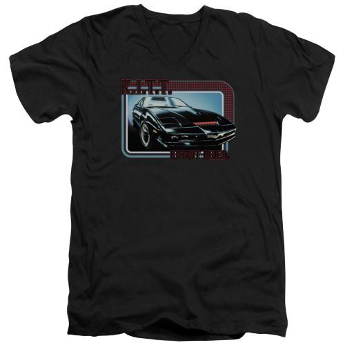 Image for Knight Rider T-Shirt - V Neck - KITT