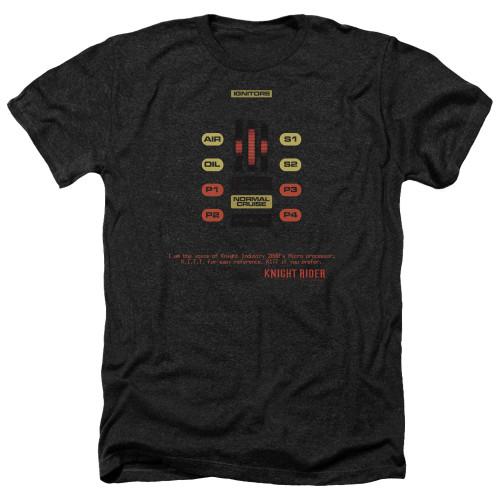 Image for Knight Rider Heather T-Shirt - KITT Consol