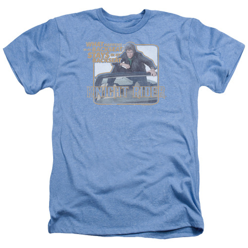 Image for Knight Rider Heather T-Shirt - Back Seat