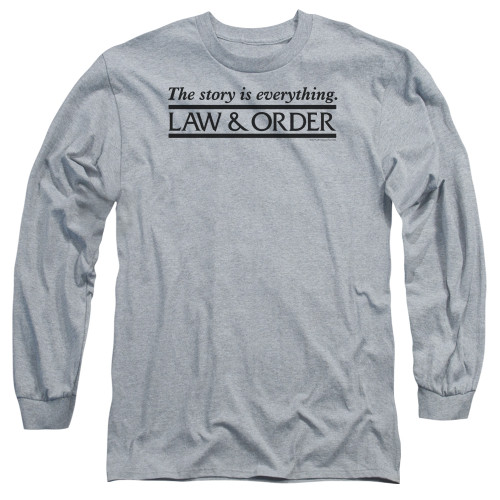 Image for Law and Order Long Sleeve T-Shirt - Story