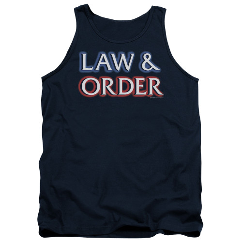 Image for Law and Order Tank Top - Logo