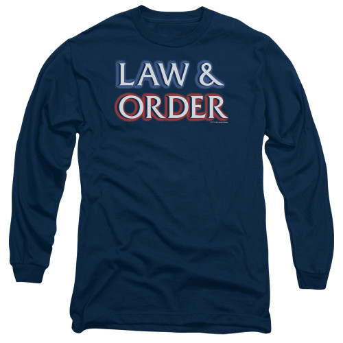Image for Law and Order Long Sleeve T-Shirt - Logo