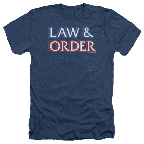 Image for Law and Order Heather T-Shirt - Logo