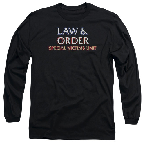 Image for Law and Order Long Sleeve T-Shirt - SVU Logo