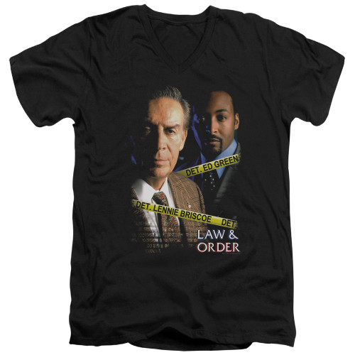 Image for Law and Order T-Shirt - V Neck - Briscoe and Green
