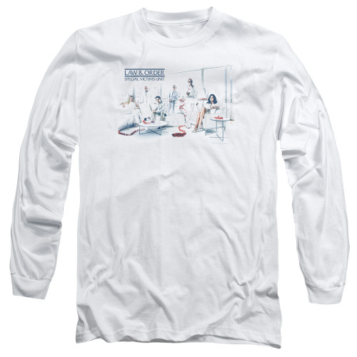 Image for Law and Order Long Sleeve T-Shirt - SVU Dominos