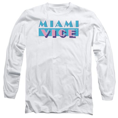Image for Miami Vice Long Sleeve T-Shirt - Logo