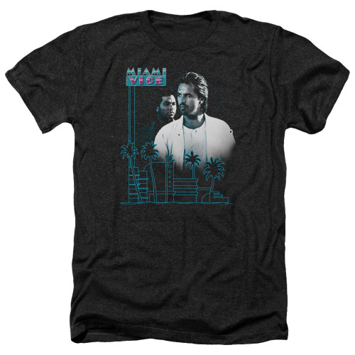 Image for Miami Vice Heather T-Shirt - Looking Out