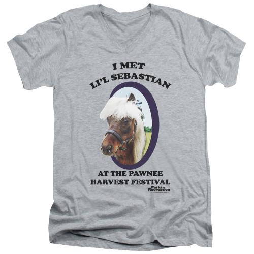 Image for Parks & Rec T-Shirt - V Neck - I Met Li'l Sebasian