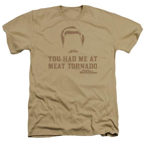 Image for Parks & Rec Heather T-Shirt - Meat Tornado