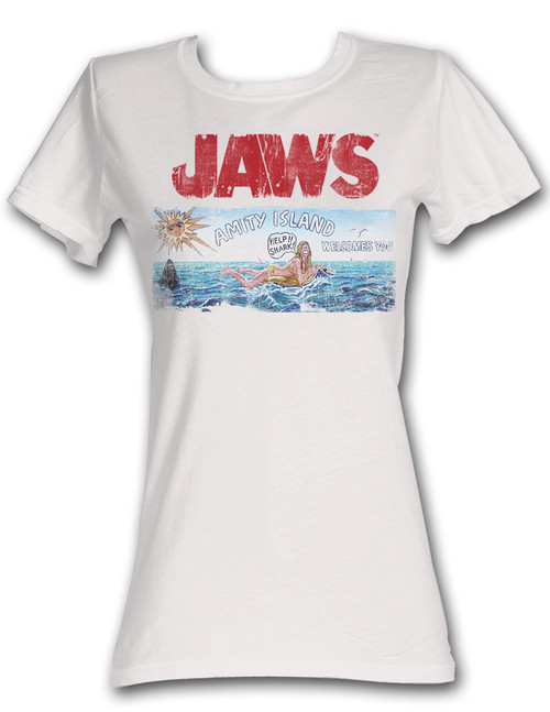 Image for Jaws Island Girls T-Shirt