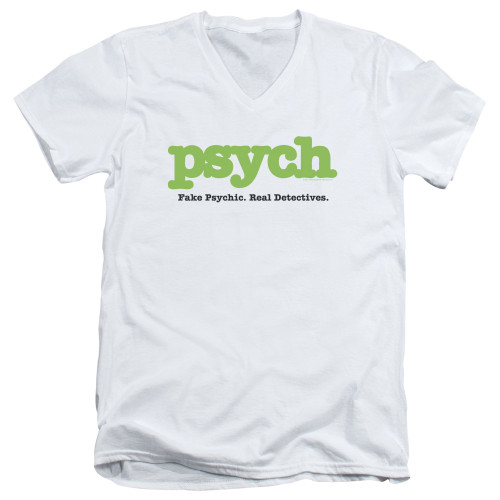 Image for Psych T-Shirt - V Neck - Title