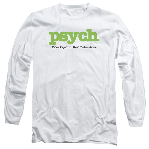 Image for Psych Long Sleeve T-Shirt - Title