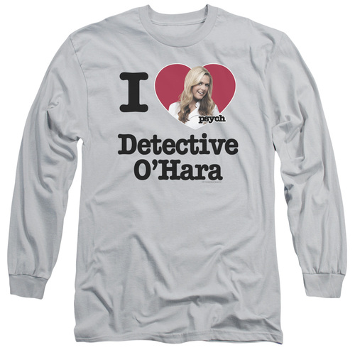 Image for Psych Long Sleeve T-Shirt - I Heart Detective O'Hara