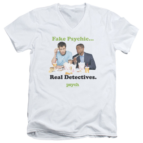 Image for Psych T-Shirt - V Neck - Take Out