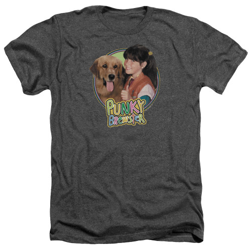 Image for Punky Brewster Heather T-Shirt - Punky & Brandon