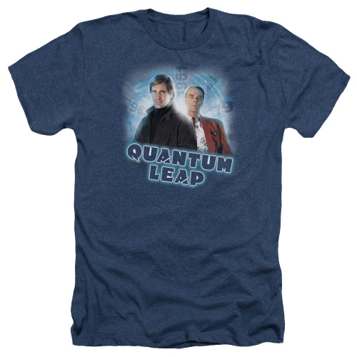 Image for Quantum Leap Heather T-Shirt - Sam and Al