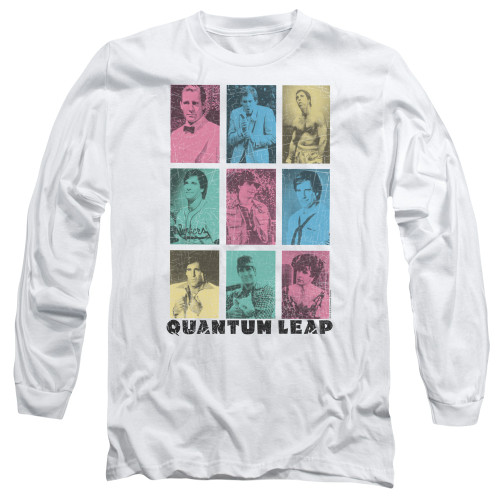 Image for Quantum Leap Long Sleeve T-Shirt - Faces of Sam