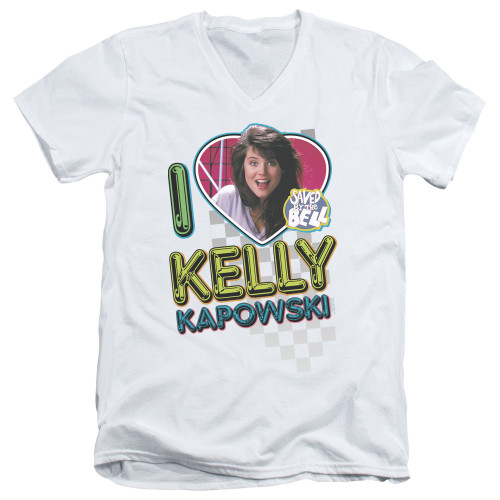 Image for Saved by the Bell T-Shirt - V Neck - I Love Kelly Kapowski