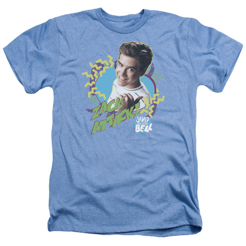 Image for Saved by the Bell Heather T-Shirt - Zack Attack