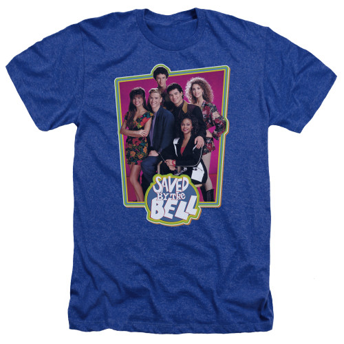 Image for Saved by the Bell Heather T-Shirt - Blue Cast