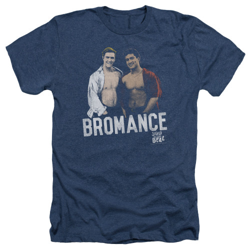 Image for Saved by the Bell Heather T-Shirt - Bromance