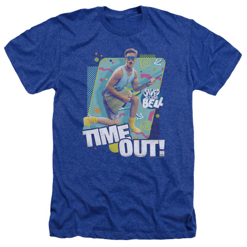 Image for Saved by the Bell Heather T-Shirt - Time Out