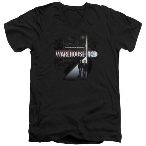 Image for Warehouse 13 T-Shirt - V Neck - The Unknown