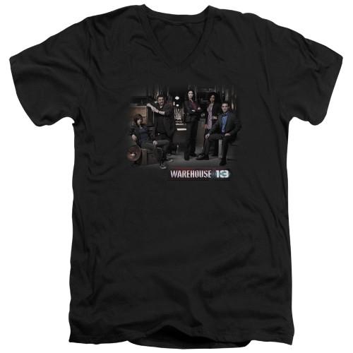 Image for Warehouse 13 T-Shirt - V Neck - Cast