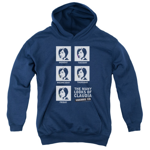 Image for Warehouse 13 Youth Hoodie - Many Looks