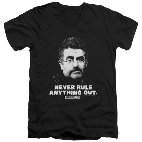 Image for Warehouse 13 T-Shirt - V Neck - Artie