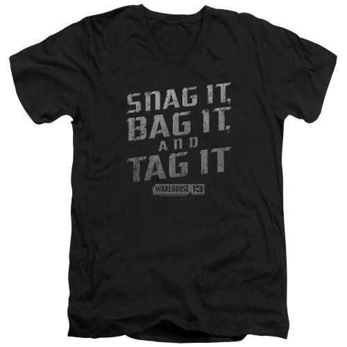 Image for Warehouse 13 T-Shirt - V Neck - Snag It