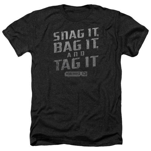 Image for Warehouse 13 Heather T-Shirt - Snag It