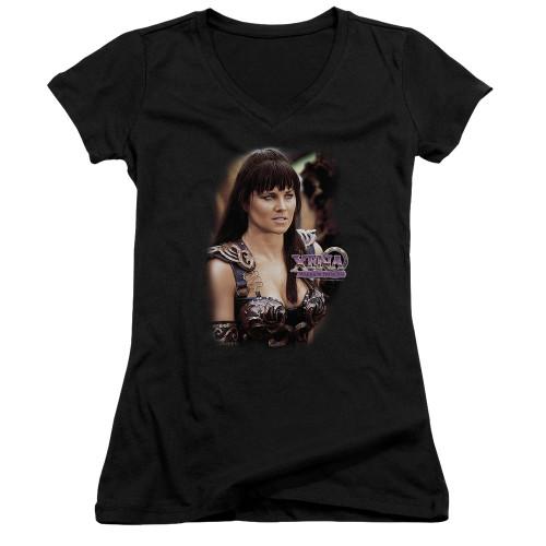 Image for Xena Warrior Princess Girls V Neck T-Shirt - The Princess