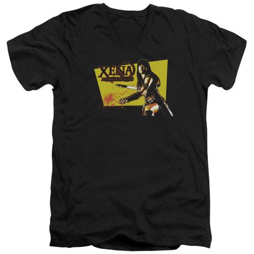 Image for Xena Warrior Princess T-Shirt - V Neck - Cut Up