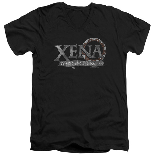 Image for Xena Warrior Princess T-Shirt - V Neck - Battered Logo