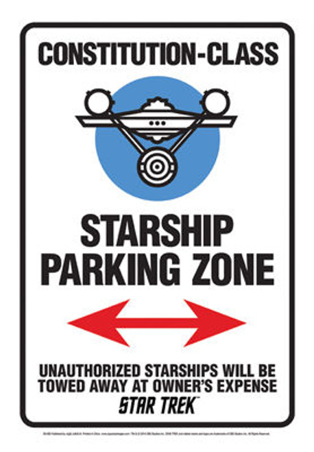 Image for Star Trek Tin Sign - Constitution-Class Parking Zone