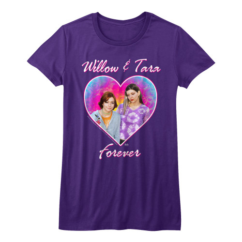 Image for Buffy the Vampire Slayer Willow and Tara Heart Girls T-Shirt