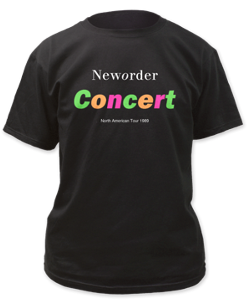 Image for New Order Concert T-Shirt
