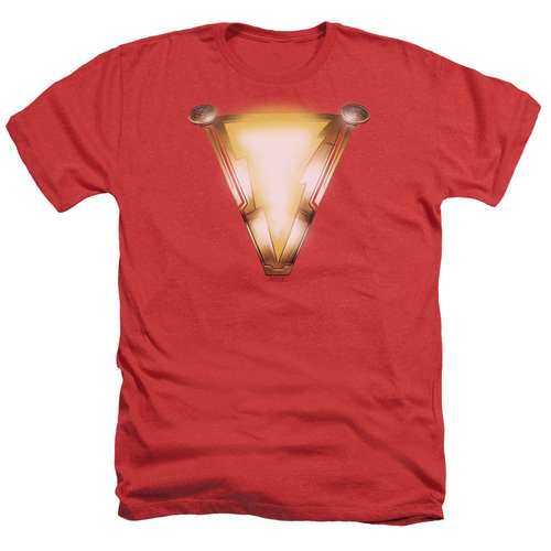 Image for Shazam Movie Heather T-Shirt - Bolt