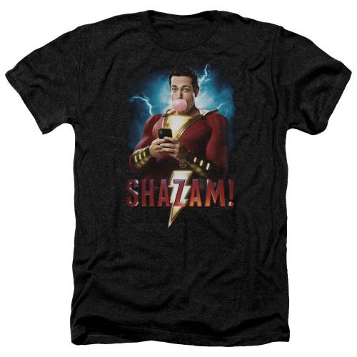 Image for Shazam Movie Heather T-Shirt - Blowing Up